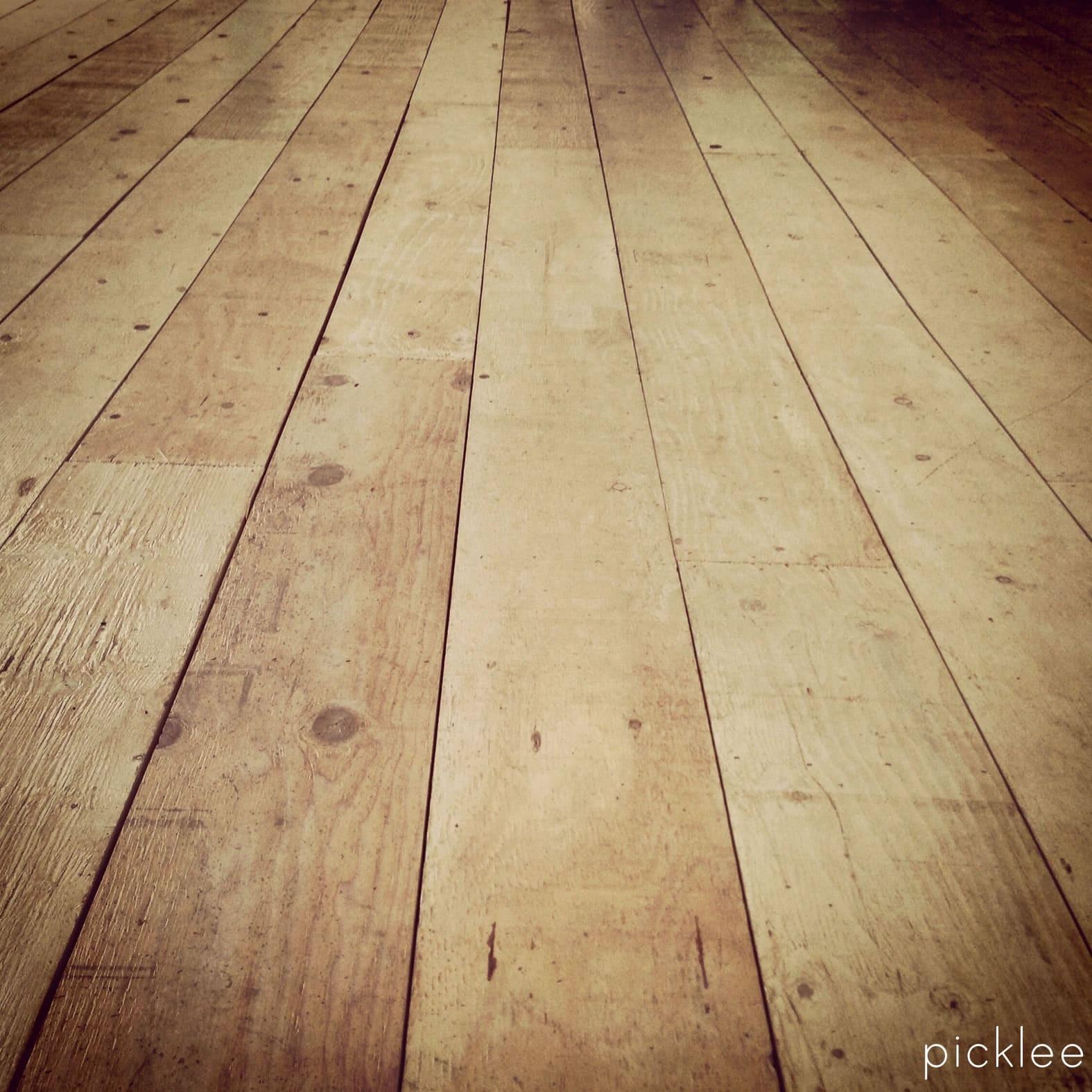 Rustic Plywood Floor Tutorial