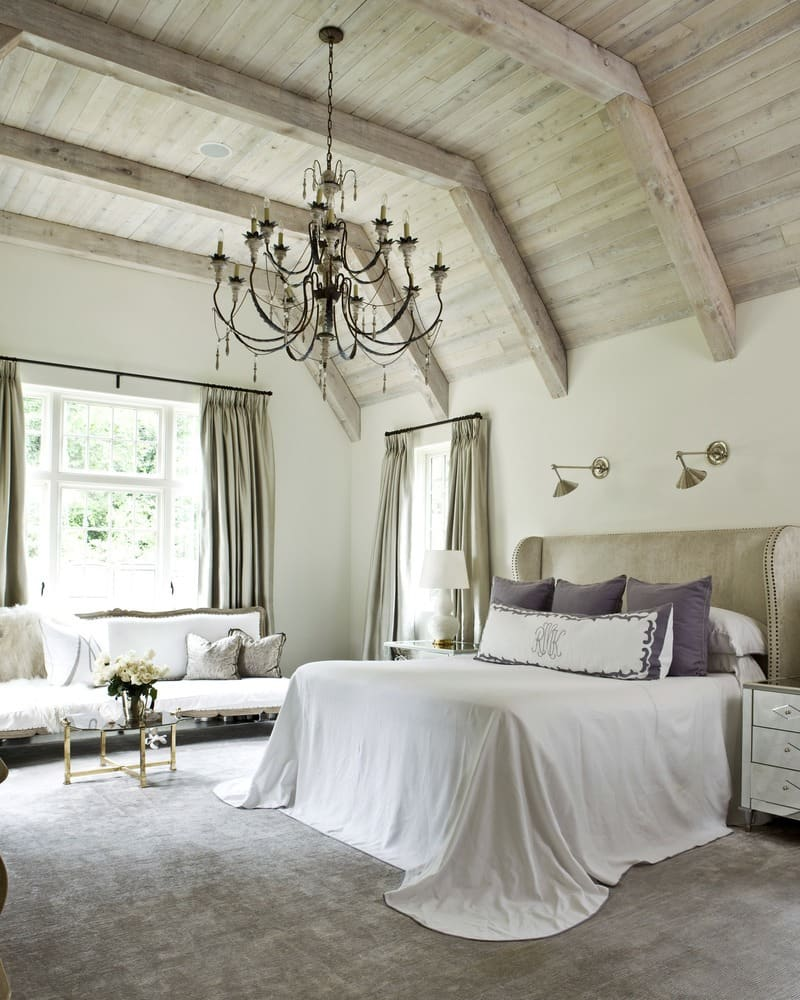 Best Rustic Bedroom Ideas Defined For High Inspiration: Chandelier High Wood Ceiling