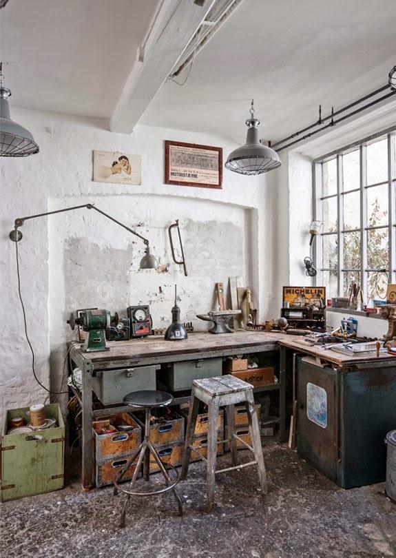 cool industrial workspace