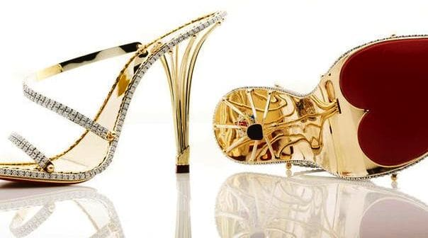 $228k gold and diamond shoes