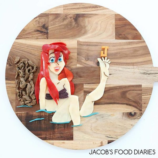 Ariel From The Little Mermaid. Stirfry Grass Fed Beef With Parsnip And Potato Mash And Red Capsicum