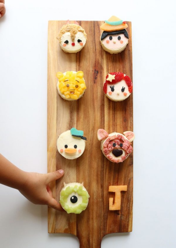 Tsum Tsum Disney Characters. Mini Cheesecake Tarts – Oat, Spelt And Coconut Oil Base With Fruit