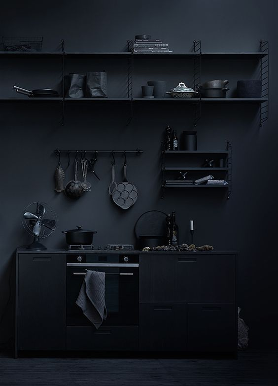 Interior design inspiration issue 19 for All blacks interiors